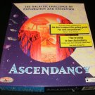 Ascendancy - 1995 Logic Factory - IBM PC - Complete CIB - Rare