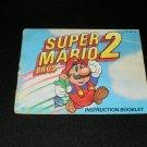 Super Mario Bros 2 - Nintendo NES - Manual Only