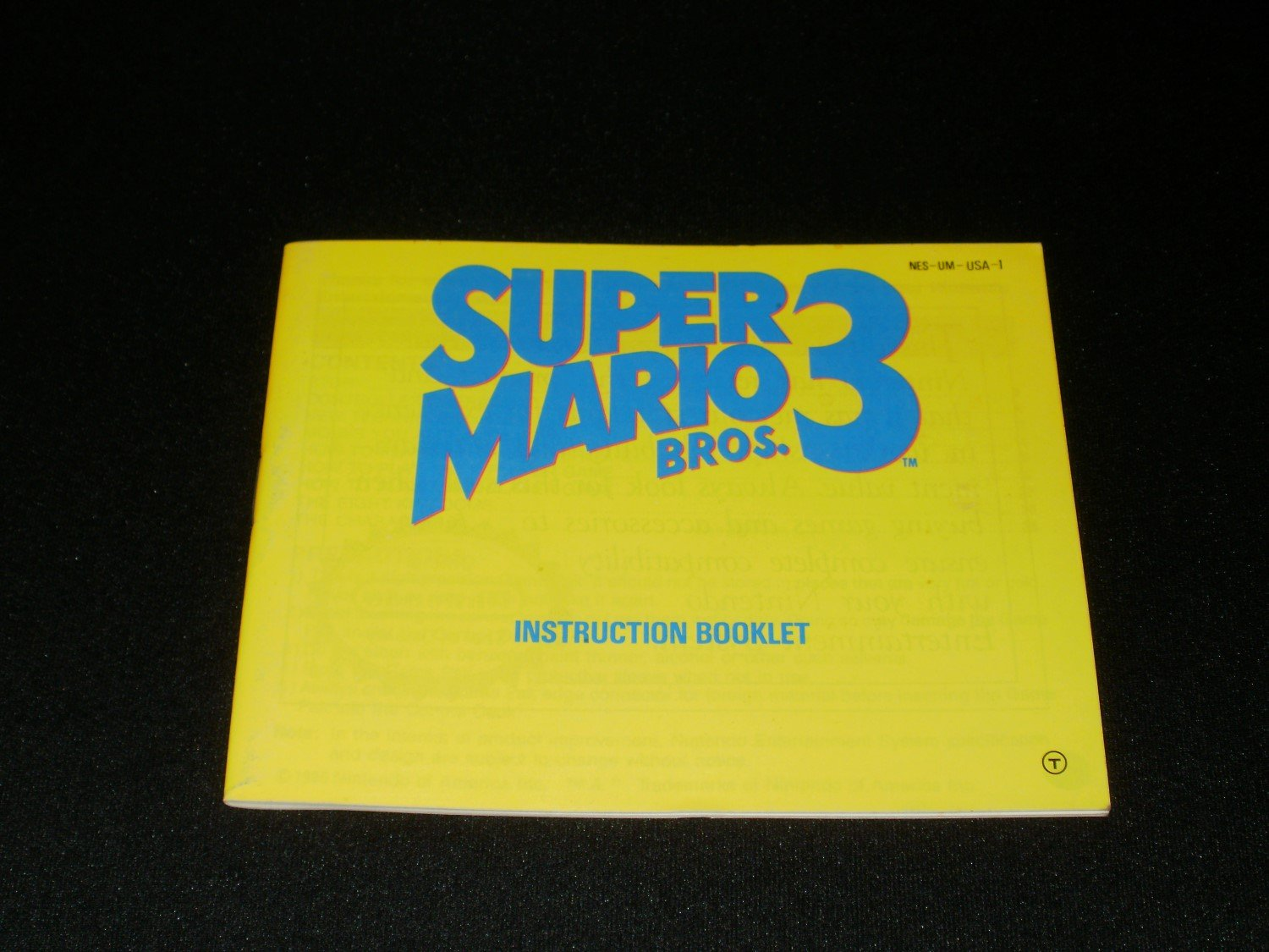 Super Mario Bros 3 - Nintendo NES - Manual Only
