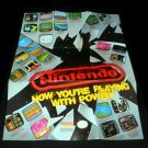 Now Your Playing With Power Poster - Nintendo 1989 - Never Used