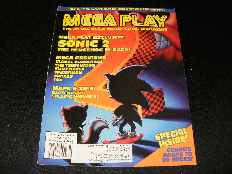 Mega Play Magazine - August 1992 - Volume 3 - Number 4