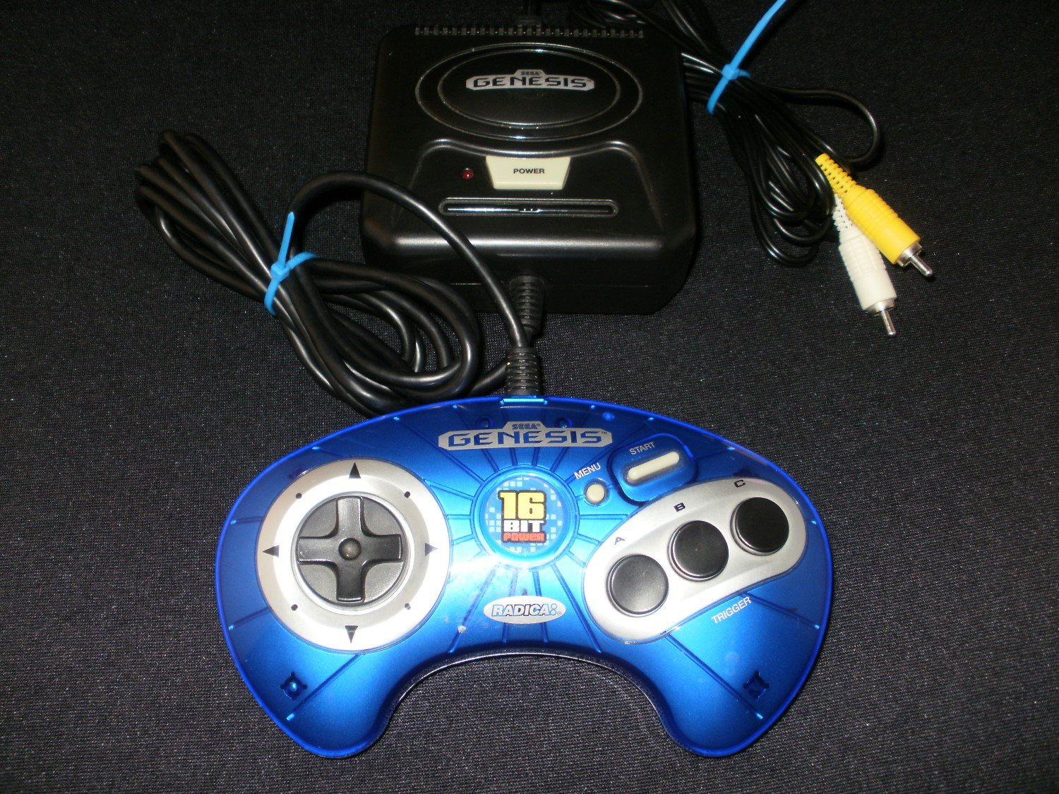 Sega Genesis Plug and Play - Vintage Handheld - Radica 2003 - Rare Blue First Edition Version