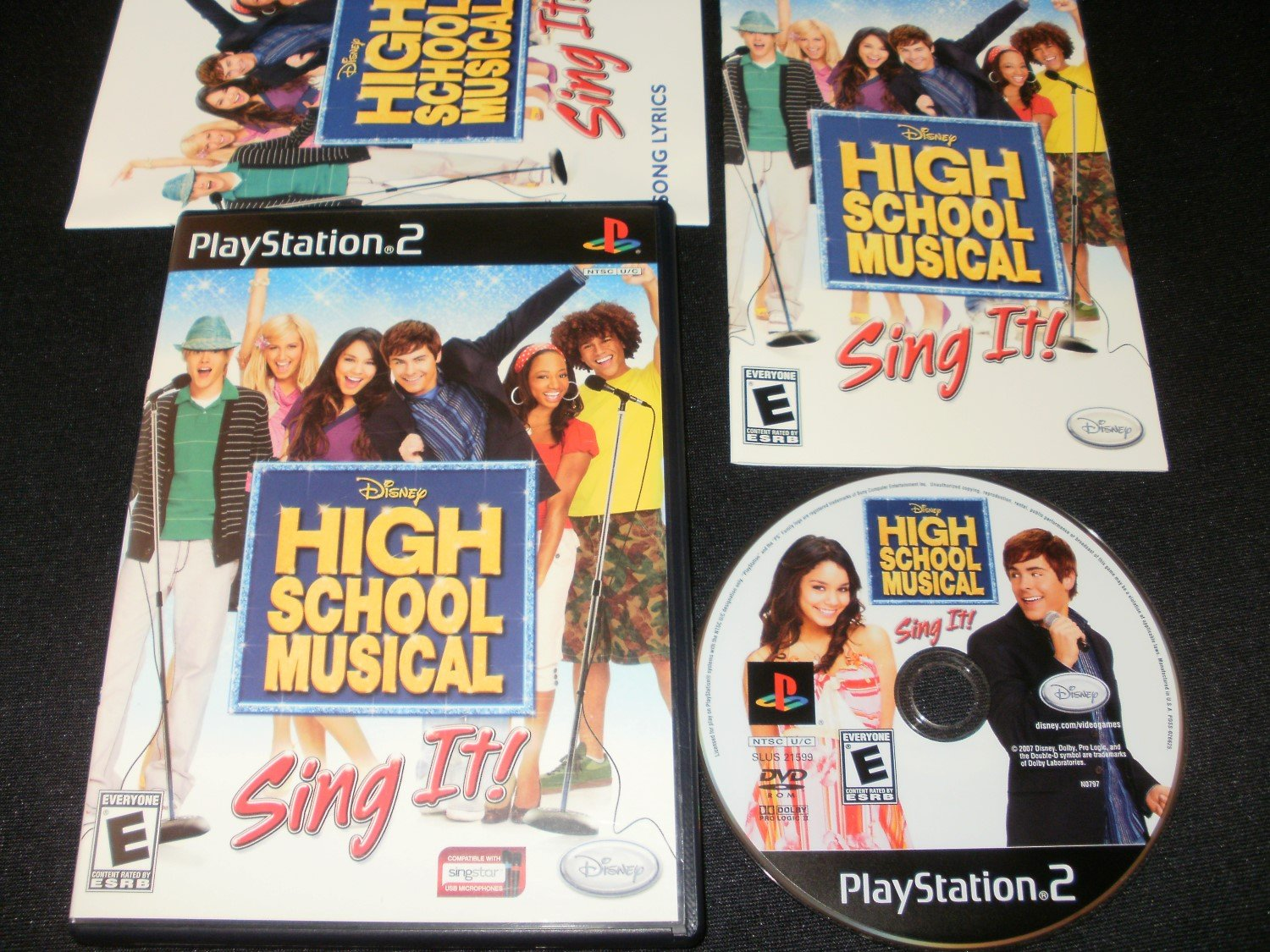 High School Musical Sing It - Sony PS2 - Complete CIB