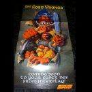 Lost Vikings Poster - Nintendo Power December, 1992 - Never Used