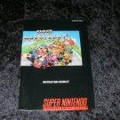 Super Mario Kart - SNES Super Nintendo - 1992 Manual Only