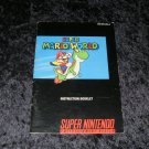Super Mario World - SNES Super Nintendo - 1991 Manual Only