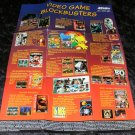 Video Game Blockbusters Poster - Acclaim 1993 Catalog