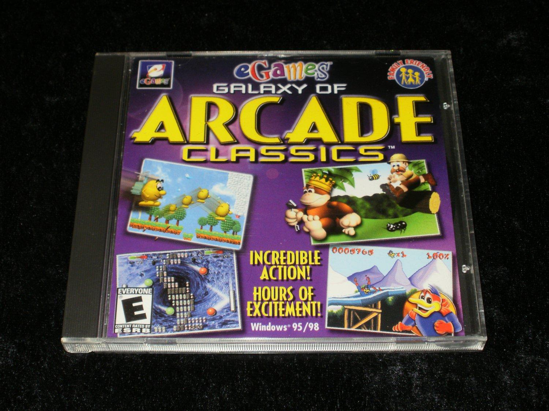 Galaxy of Arcade Classics - IBM PC - 2000 eGames - With Case & Manual