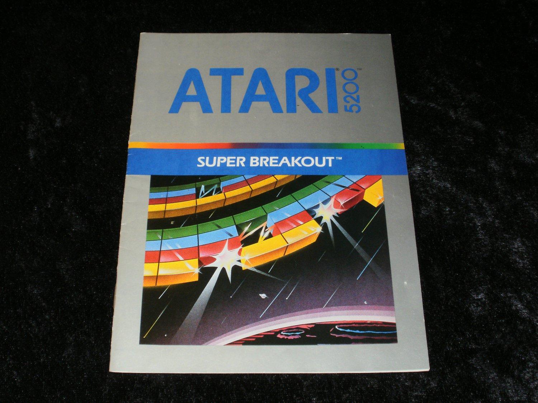 Super Breakout - Atari 5200 - Manual Only