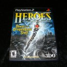 Heroes of Might and Magic Quest for the Dragon Bone Staff - Sony PS2 - Complete CIB