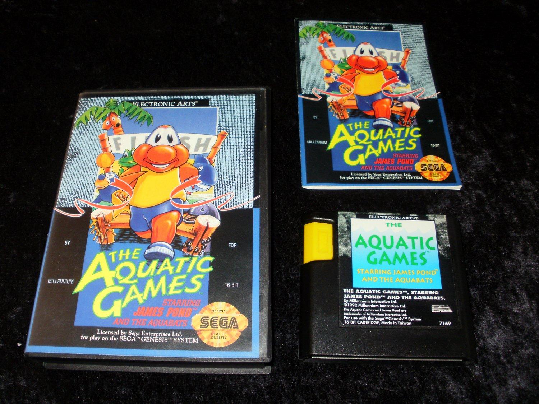 Aquatic Games Starring James Pond and the Aquabats - Sega Genesis - Complete CIB
