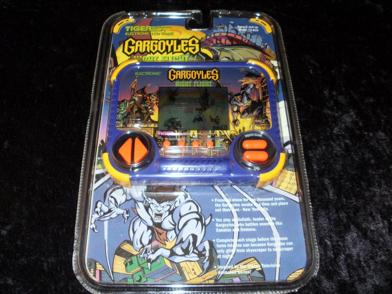 Gargoyles Night Flight - Vintage Handheld - Tiger Electronics 1995 - New Factory Sealed