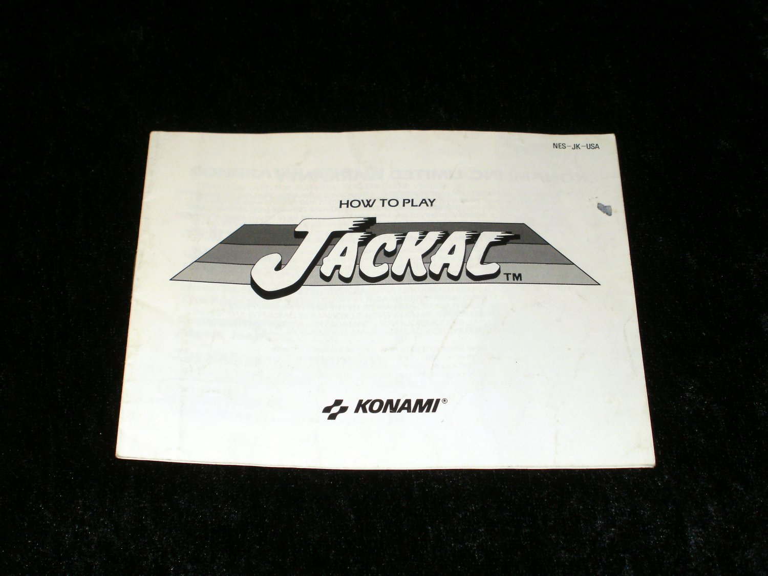 Jackal - Nintendo NES - Manual Only