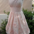 BCBG STRAPLESS PINK TAFFETA DRESS NWT Size 2 $398