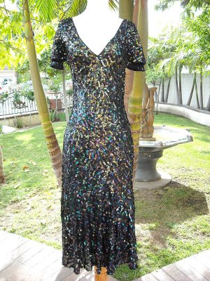 BCBGCollection Multi-color Sequin Gown Size S NWT $924