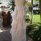 $1204.00 BCBG Beautiful Woven Silk Tiered Bridal Gown 4 NWT