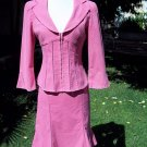 Beautiful Nanette Lepore Designer Career Skirt Jacket Suit with Lace Design Size 2