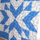 Blue and White Starburst
