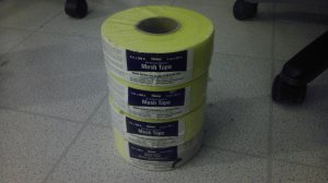 "Quantity of 4: Homax 2""x 300' Mesh Drywall Tape, Yellow"