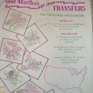Aunt Martha United States State Flower Quilt Transfer