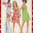 Sassy Mod '70 Easy Mini or Maxi Halter Dress Junior Petite Bust 32 Vintage Simplicity 8260
