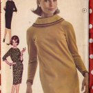 Super Mod 60s Roll Collar Dress with Raglan Sleeves Bust 32 Vintage Advance Sewing Pattern 3111