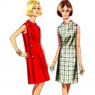 Mod 60s Funnel Collar Side Panel A Line Dress Bust 36 Vintage Sewing Pattern Butterick 4266
