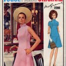 Mod 60s Vogue Paris Original Molyneux A Line Dress Vintage Sewing Pattern 2206 Bust 34