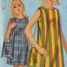 Sassy Mod 66 Girl's Jiffy Beach Dress and Shoulder Bag Simplicity 6566 Vintage Pattern Size 12