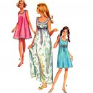 Sassy Mod 60s Jiffy Empire Nightgown or Tent Dress Simplicity 8252 Vintage Pattern Size Small