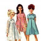 Sassy Mod 1960s Mini Tent Dress Simplicity 7585 Vintage Pattern Bust 32.5