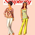 Sassy Mod 60s Jiffy Bell Bottoms and Top Simplicity 6502 Vintage Pattern Bust 32
