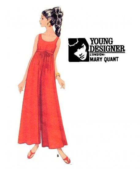 Sassy Mod 60s Mary Quant Empire Pantdress Butterick 4779 Vintage Pattern Bust 34