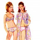 Sassy Mod 60s Lingerie Bra Panties Slips Robe Sewing Pattern Simplicity 7180 Bust 38