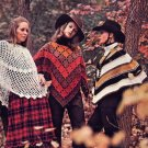 Mod 70s 'Ponchos Defined' Knit and Crochet Patterns Hat, Skirt, Coat  and 6 Ponchos