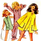 Sassy Mod 60's Girls One Piece Pajamas or Jumpsuit and Robe Vintage Butterick 5499 Breast 25