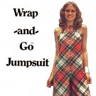 Sassy 70's Wrap and Go Jumpsuit Butterick 6716 Vintage Sewing Pattern Bust 32.5