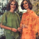 Disco 70s Butterfly Sleeve Or Handkerchief Blouse Butterick 5341 Vintage Pattern Size Medium