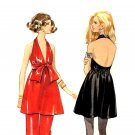 Sassy Mod 60s Backless Halter Mini Dress and Pants Butterick 5547 Vintage Pattern Bust 34
