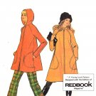 Sassy Mod 70s Tent Coat with Raglan Sleeves McCall's 3339 Vintage Pattern Bust 34
