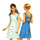 Sassy Mod 60s Jiffy H Back Dress Simplicity 8183 Vintage Pattern Bust 36