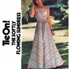Sassy 70's Tie On! Butterick 4836 Wraparound Maxi Sundress--Size Small