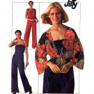 Disco 70s Easy Jiffy Strapless Jumpsuit and Jacket Vintage Sewing Pattern Simplicity 7748 Small
