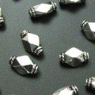 Tibetan Silver 3 Puffed Diamond Spacers SAMPLER