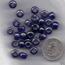 "Handmade Indian 9X7 Trnsl Lstr Cobalt Glass Crow Beads 24"" Strand"