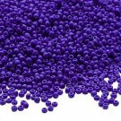 Opaque Blue 11/0 Glass Seed Beads 30 grams