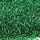 Silver Lined Emerald 11/0 Glass Seed Beads 30 grams