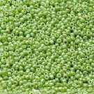 Opaque Rainbow Lime 11/0 Glass Seed Beads 1/4 lb