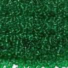 Transparent Emerald 11/0 Glass Seed Beads 30 grams