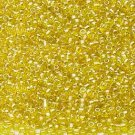 Transparent Luster Yellow 11/0 Glass Seed Beads 30 grams